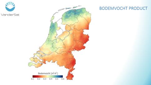 Kaart Nederland bodemvocht